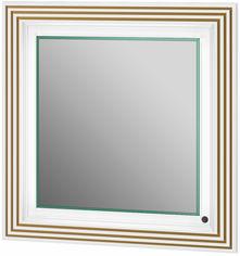 Акция на Зеркало BOTTICELLI Treviso ТМ-80 белое/патина золото от Rozetka