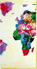Акция на Набор для вышивки бисером Абрис Арт на натуральном художественном холсте Карта мира-2 (AB-464) от Rozetka