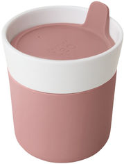 Акция на Кружка-контейнер для напитков BergHOFF Leo 250 мл Розовый (3950136) от Rozetka