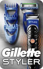 Акция на Бритва-стайлер мужской Gillette Fusion5 ProGlide Styler с 1 сменным картриджем ProGlide Power + 3 насадки для моделирования бороды и усов (7702018273386) от Rozetka