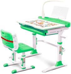 Акция на Комплект мебели Evo-kids Evo-19 (стул+стол+полка+лампа) Белый-зеленый (Evo-19 Z) от Rozetka