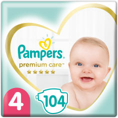 Акция на Подгузники Pampers Premium Care Размер 4 (Maxi) 9-14 кг, 104 шт (4015400465447) от Rozetka