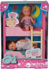 Акция на Набор Simba Двуспальная кровать Евы и 2 куклы (5733847) от Rozetka