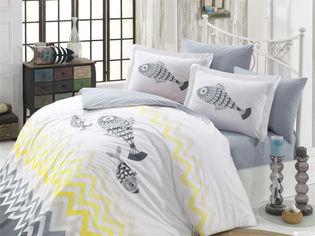 Акция на Комплект постельного белья Hobby Poplin Ocean 200x220 (8698499131866) от Rozetka