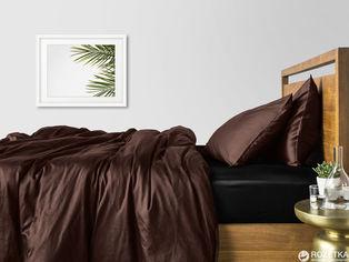 Акция на Комплект постельного белья Cosas Сатин Шоколад Черный П 160х220x2 (4822052419779) от Rozetka