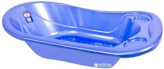 Акция на Ванночка детская со сливом Sevi Bebe Перламутровая Голубая (8692241008215) от Rozetka