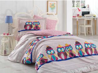 Акция на Комплект постельного белья Hobby Poplin Linda 160x220 Сиреневый (8698499121799) от Rozetka
