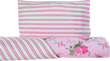 Акция на Комплект постельного белья English Home Бязь Carnation 150х220 см (8680886620411) от Rozetka