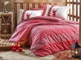 Акция на Комплект постельного белья Hobby Poplin Clarinda 160х220 Красный (8698499140813) от Rozetka