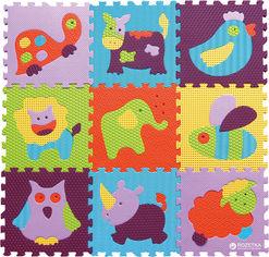 Акция на Детский развивающий коврик-пазл Baby Great Веселый зоопарк 92х92 см (GB-M129А2) от Rozetka
