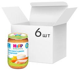 Упаковка овоще-мясного пюре HiPP органического Нежные овощи с рисом и индейкой с 12 месяцев 220 г х 6 шт (9062300410430) от Rozetka