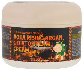 Акция на Крем паровой Увлажняющий Elizavecca Milky Piggy Aqua Rising Argan Gelato Steam Cream 100 мл (8809418750147) от Rozetka