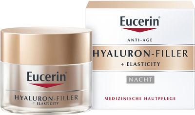 Акция на Антивозрастной ночной крем для лица Eucerin Hyaluron-Filler + Elasticity 50 мл (4005800160264) от Rozetka