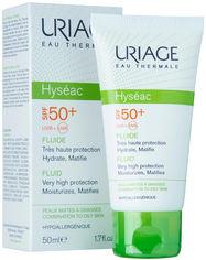 Акция на Солнцезащитный флюид для лица Uriage Hyséac Fluide SPF 50+ Увлажнение+Матирование для жирной и комбинированной кожи 50 мл (3661434001932) от Rozetka