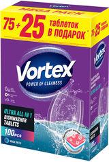 Таблетки для посудомоечных машин Vortex all in 1 100 шт (4823071623093) от Rozetka