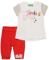 Костюм (футболка + лосины) Cichlid 2600-065 92-98 см Белый с красным (ROZ6205088207) от Rozetka