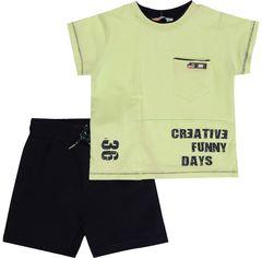 Костюм (футболка + шорты) Mackays 2650-046 98-104 см Салатовый с темно-синим (ROZ6205088357) от Rozetka