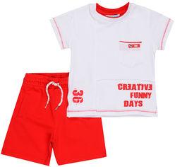 Костюм (футболка + шорты) Mackays 2650-046 86-92 см Белый с красным (ROZ6205088350) от Rozetka