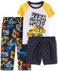 Пижама (футболка + штаны) Carters 16488910 12M Бело-серая с желтым (192135504147) от Rozetka