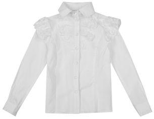Акция на Блузка Zironka Textile Basic 26-9045-1 152 см Белая (ROZ6205091870) от Rozetka