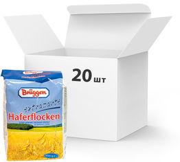 Акция на Упаковка овсяных хлопьев Bruggen Extrazarte Haferflocken 500 г х 20 шт (4008713710373) от Rozetka