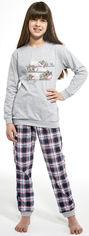 Акция на Пижама (футболка с длинными рукавами + штаны) Cornette Koala 594-19/117 98-104 см Синяя с розовым (5902458127184) от Rozetka