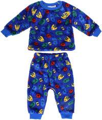 Пижама (футболка с длинными рукавами + штаны) Minoti Fluff 3 12494 86-92 см Синяя (5059030183097) от Rozetka