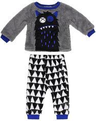 Пижама (футболка с длинными рукавами + штаны) Minoti Fluff 2 12492 80-86 см Серая (5059030182991) от Rozetka