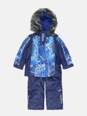 Акция на Зимний комплект (куртка + полукомбинезон) Garden Baby 102018-63-33 92 см Синий с белым (4821020186231) от Rozetka