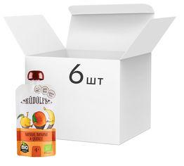Акция на Упаковка фруктового органического пюре Rudolfs Смузи манго-банан-айва 110 г х 6 шт (14751017940904) от Rozetka