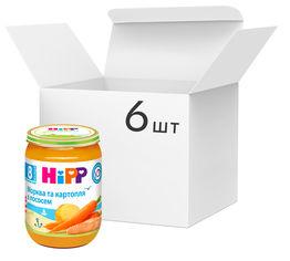 Упаковка рыбно-овощного пюре HiPP Морковь и картофель с лососем с 8 месяцев 190 г х 6 шт (9062300428695) от Rozetka