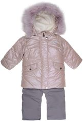 Акция на Зимний комплект (куртка + полукомбинезон) Evolution 30-ЗД-19 80 см Перламутровый розовый/Серый (4823078564870) от Rozetka