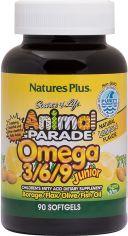 Акция на Жирные кислоты Natures Plus Animal Parade Омега 3-6-9 для детей, вкус Лимона 90 желатиновых капсул (97467299948) от Rozetka
