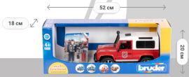Акция на Игрушка Bruder Джип Пожарный Land Rover Defender с фигуркой пожарного (02596) от Rozetka