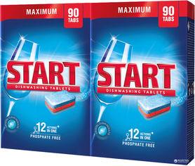 Акция на Таблетки для посудомоечной машины Start Maximum 90 шт + 90 шт (4820207100244) от Rozetka