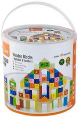 """Акция на Набор кубиков Viga Toys """"Алфавит и числа"""" (100 шт., 3 см.) (50288) (6934510502881) от Rozetka"""