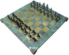 Акция на Шахматы Manopoulos Кикладское искусство, латунь, в деревянном футляре, бирюзовые, 44 х 44 см (S23BTIR) от Rozetka