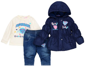 Акция на Комплект (куртка + джинсы + футболка с длинными рукавами) Disney Superbaby APH0175 67 см Navy (3609081061916) от Rozetka