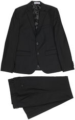 Акция на Костюм (пиджак + брюки) Новая форма 09.2 Tomas 142 см 32 р Черный (2000066927325) от Rozetka