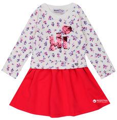 Акция на Платье Wanex WNX EL 2-40436 86 см Молочное с красным от Rozetka