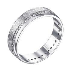 Акция на Обручальное кольцо из белого золота с фианитами 000006438 19.5 размера от Zlato