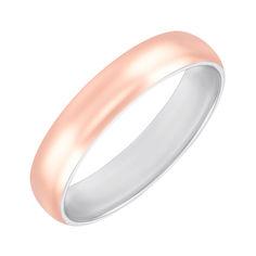 Акция на Серебряное обручальное кольцо с золотой накладкой 000145055 17 размера от Zlato