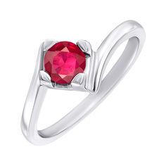 Акция на Серебряное кольцо с рубином 000144891 16.5 размера от Zlato
