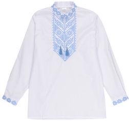 Акция на Вышиванка Lito Орнамент голубой od-20871 110-116 см Белая (2000000322018) от Rozetka