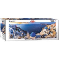 Акция на Пазл Eurographics Санторини, Греция, 1000 элементов панорамный (6010-5300) от Allo UA