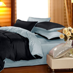 Акция на Комплект постельного белья Сатин Premium 0848 + 0843 Robert Семейный 160x220 см (2200002032919) от Rozetka