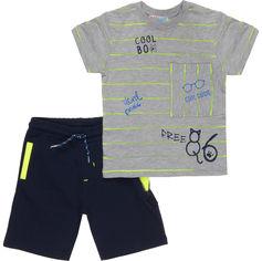 Костюм (футболка + шорты) Mackays TK 6030 92-98 см Серый с темно-синим (ROZ6205088371) от Rozetka