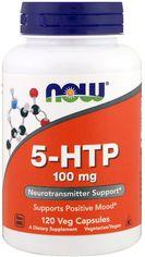 Акция на Аминокислота Now Foods 5-HTP (Гидрокситриптофан) 100 мг 120 гелевых капсул (733739001061) от Rozetka