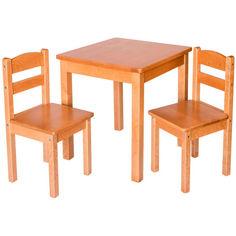Акция на Детский стол с 2 стульями Fenster Юниор Натуральный от Allo UA