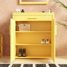 Акция на Тумба для обуви Fenster NVD-11 Жёлтая от Allo UA